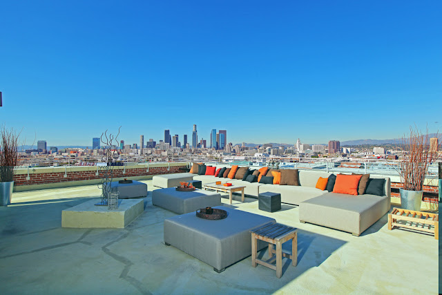 Photo of Los Angeles downtown as seen from the terrace during the day