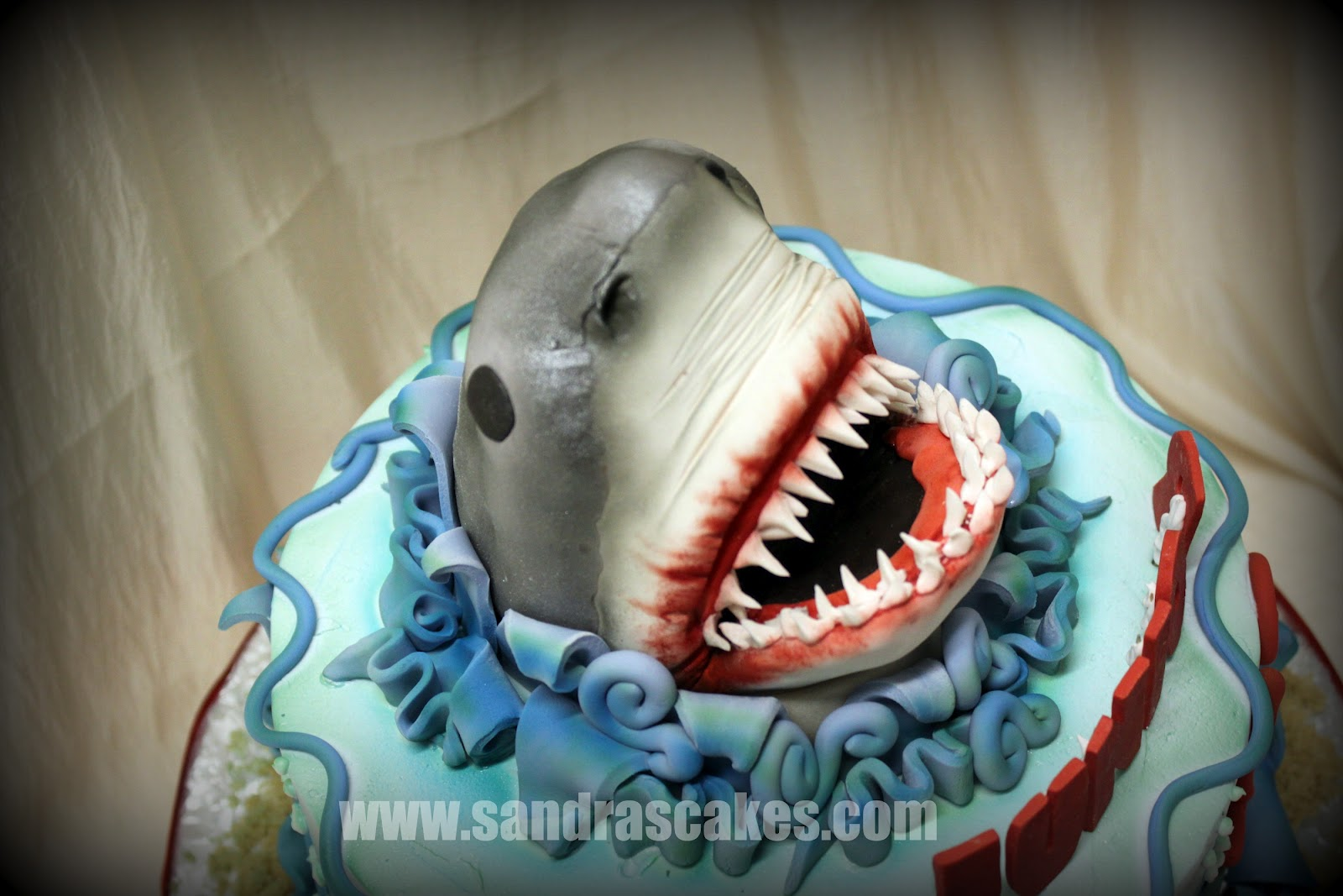 jaws birthday cake