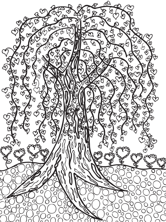 Abstract Tree Coloring Pages : Free coloring pages of easy abstract doodle