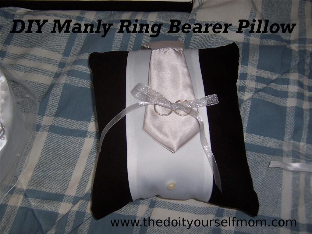 The do it yourself mom diy manly ring bearer pillow for Diy ring bearer