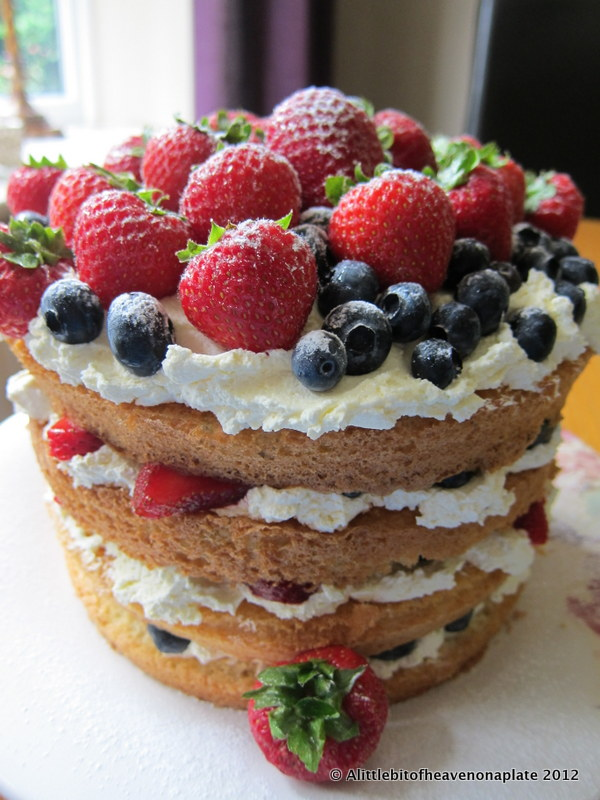 a little bit of heaven on a plate fresh fruit cream
