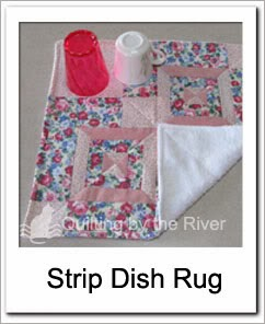 Strip Dish Rug Free Tutorial at Freemotion by the River