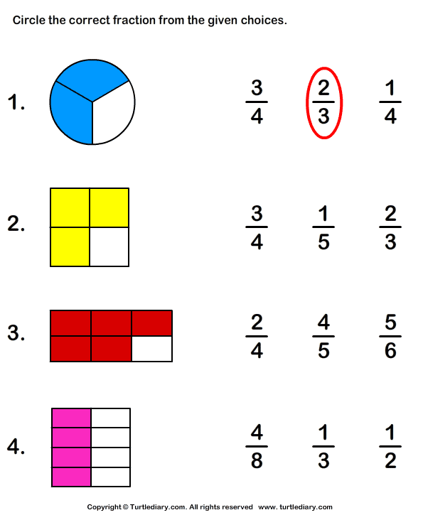 Worksheet On Fractions For Class 3 1000 images about grade one – Worksheet on Fractions for Grade 2