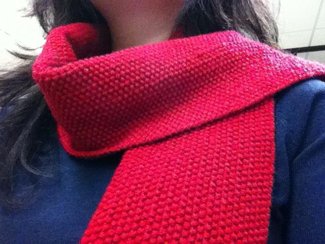 Moss Stitch Knitting Pattern Scarf : CheeKeeLee: Moss Stitch Scarf