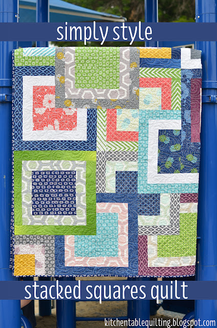 Simply style stacked squares quilt 171 moda bake shop