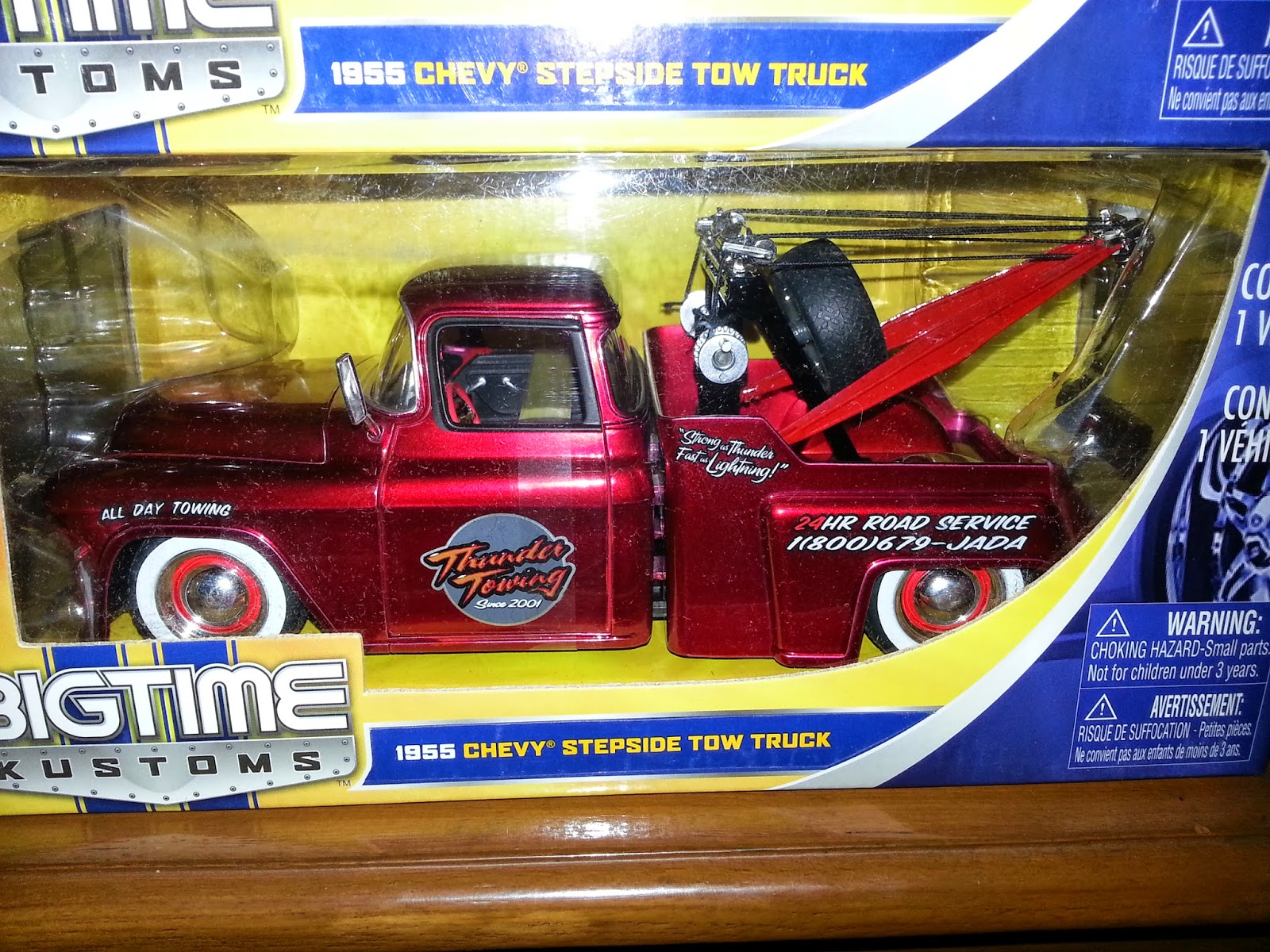 1955 CHEVY STEPSIDE TOW TRUCK DIECAST