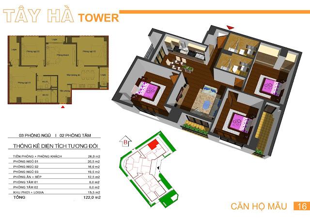 Căn số 16 chung cư Tây Hà Tower