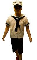kostum profesi pelaut untuk anak anak