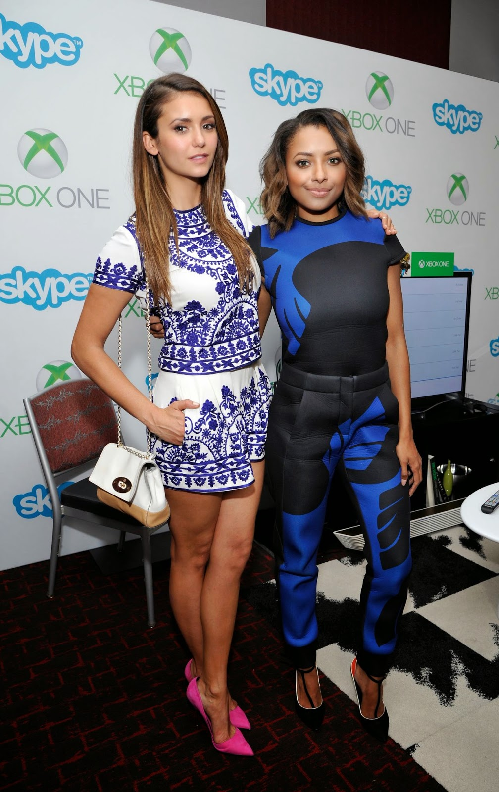 Nina Dobrev & Kat Graham – Microsoft VIP Lounge At The Hard Rock Hotel in San Diego