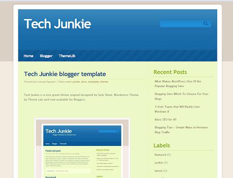 Tech Junkie Blogger Theme
