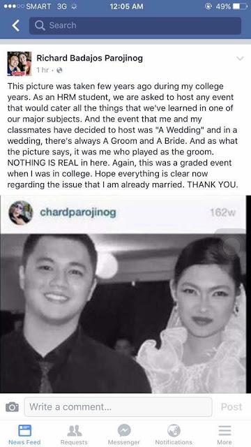 Mr. Pastillas explained his alleged wedding photos!
