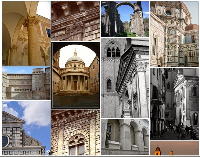 Examples of Early Renaissance Architecture, compiled by viaoptimae.com on pinterest http://www.pinterest.com/viaoptimae/early-renaissance-architecture-in-italy/