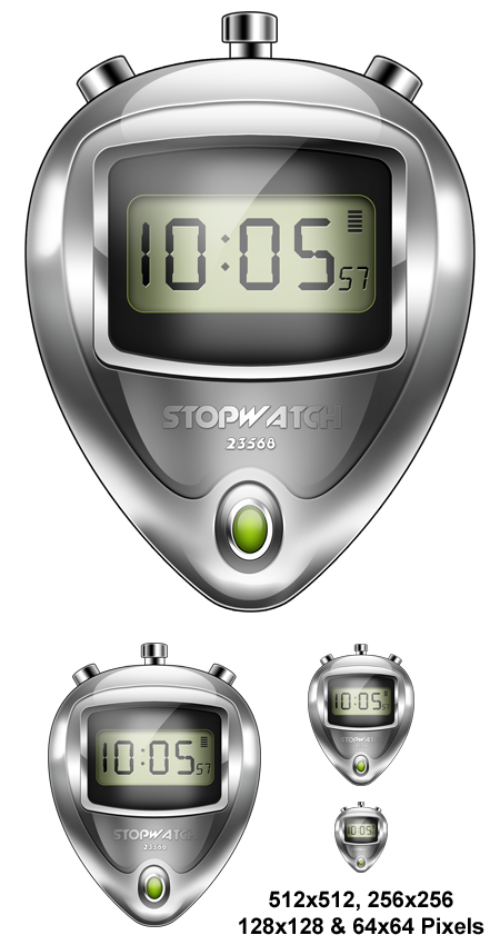 Electronic Stopwatch Icon PSD