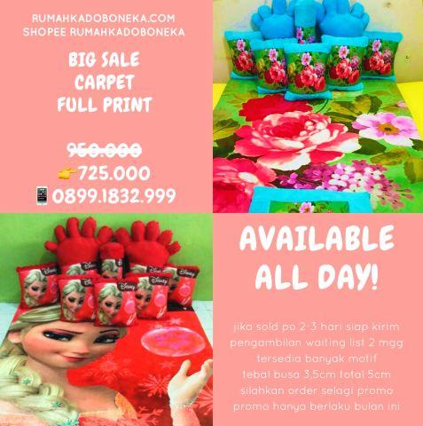 Promo Karpet Fullset Full Print