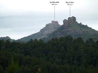Roca Mur i la Morella des de la Carena de l'Illa