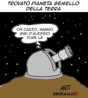 kepler452b, gigi d'alessio, umorismo, vignetta