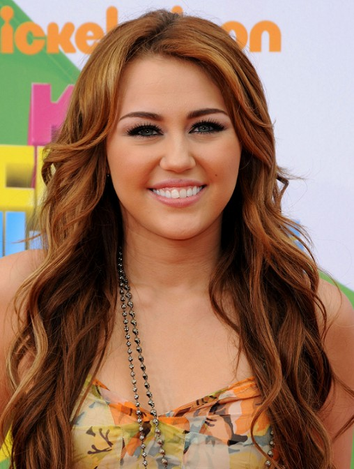 Miley Cyrus Long Brown Hair