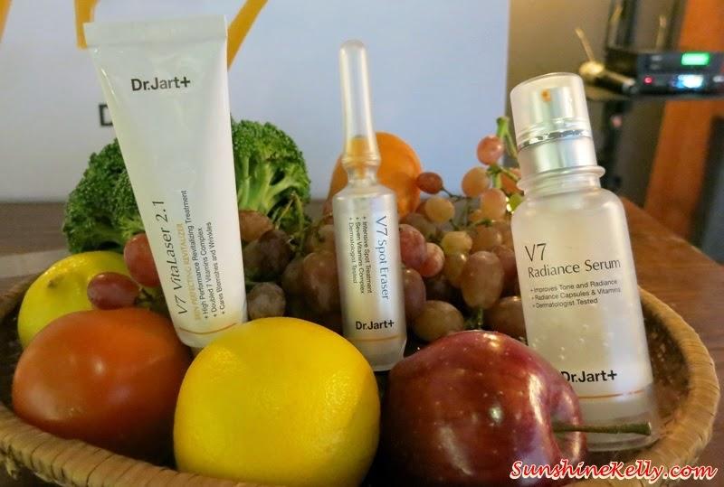 Dr Jart+ V7 Radiance Skincare Range, Korean Beauty Regimen, 7 multi vitamins, whitneing skincare, korean whitening skincare, beauty