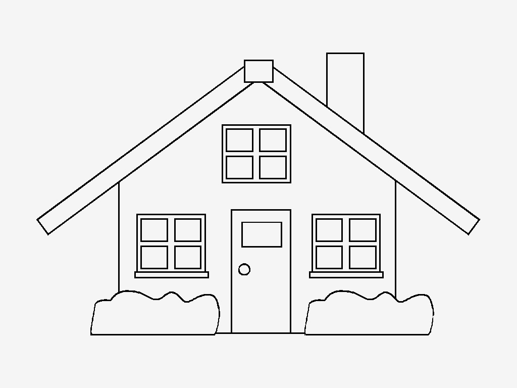 Desenhos Para Pintar Casas Coloridas Desenhos De Casas