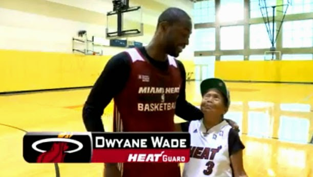 WATCH: 90-year-old Filipina Wish Granted by NBA Star Dwyane Wade