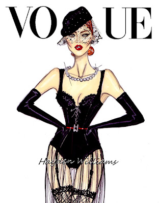 hayden williams fashion illustrator vogue illustration sketch