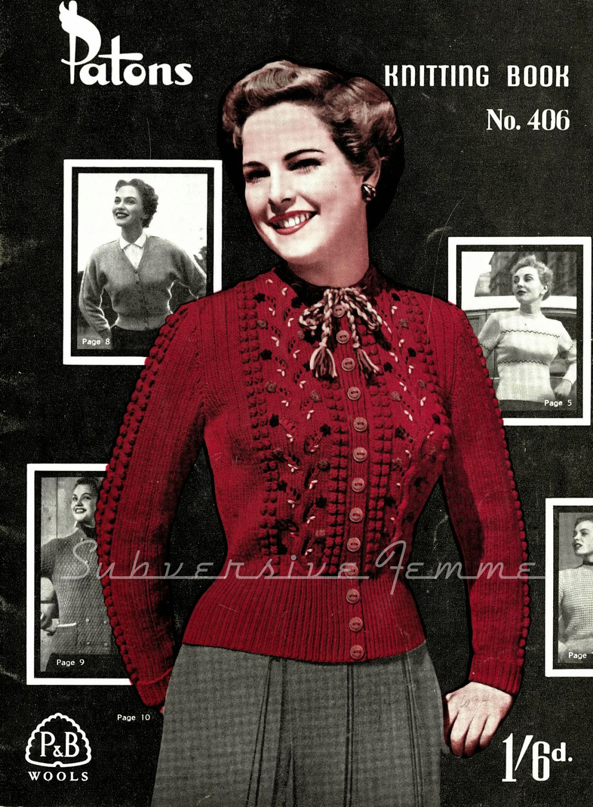 free pattern 1950's Knitting - Marilla, A Cardigan With A Twist