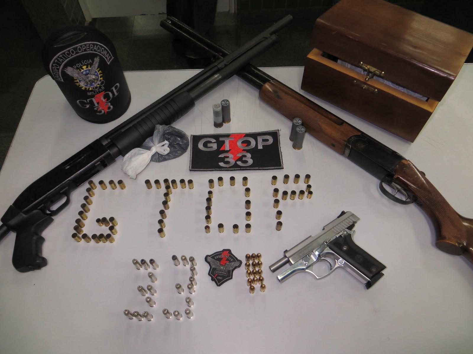 Armario Embutido Quarto Pequeno ~ Informativo FLAGRANTE GTOP 33 APREENDE TR u00caS ARMAS DE FOGO EM SOBRADINHO