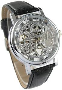 Youyoupifa Mens Mechanical Skeleton Watch Hand Wind Up