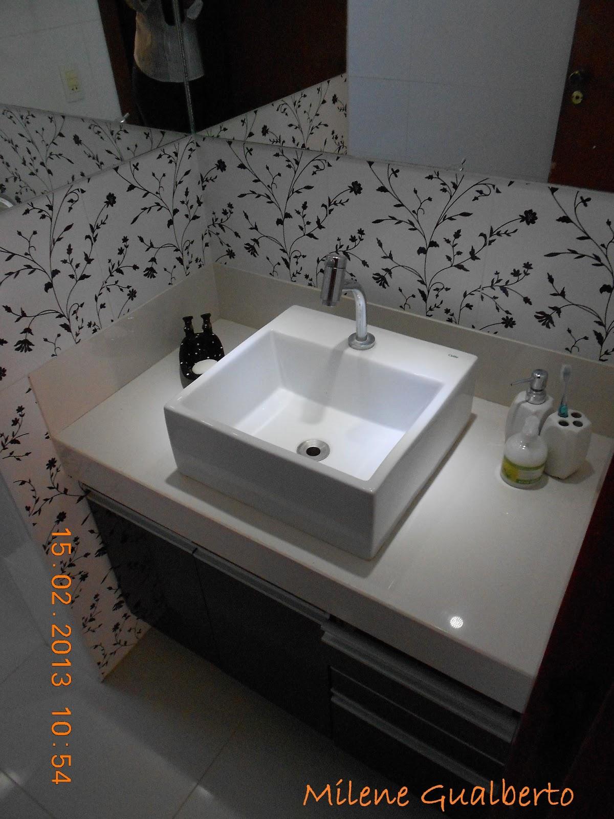Projetos Residenciais Banheiro Porcelanato Decorado Preto e Branco #AB5B20 1200x1600 Banheiro Bancada Porcelanato