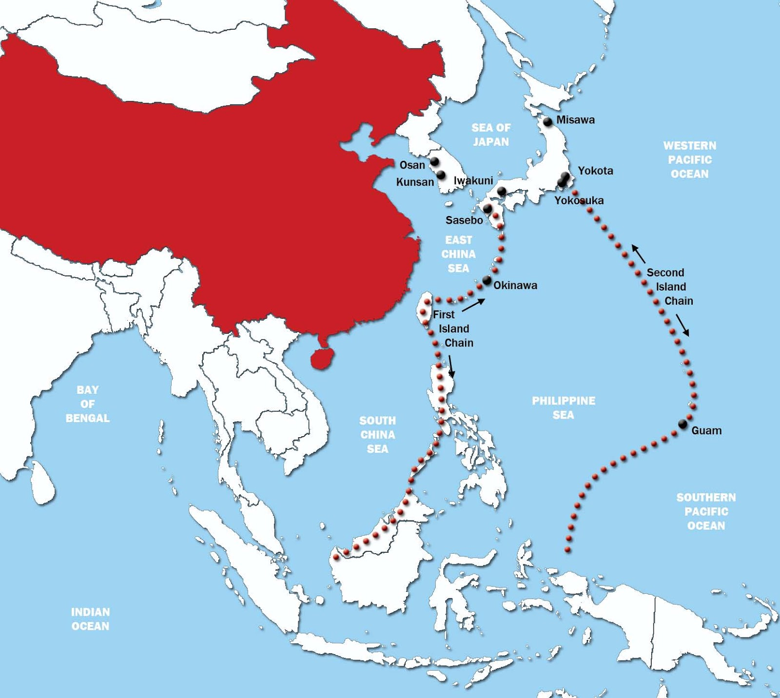 Warm Oolong Tea Americas Pacific Maginot Line Advantage In The - Us And Pacific Countries Maps
