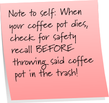 Coffee Pot Sticky Note Saturday