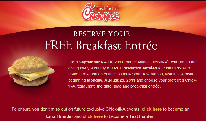 SAN ANTONIO - Chick-fil-A restaurants in San Antonio, New Braunfels and Kerrville are offering one free breakfast item every week in October. Customers can order one free Chick-fil-A chicken.