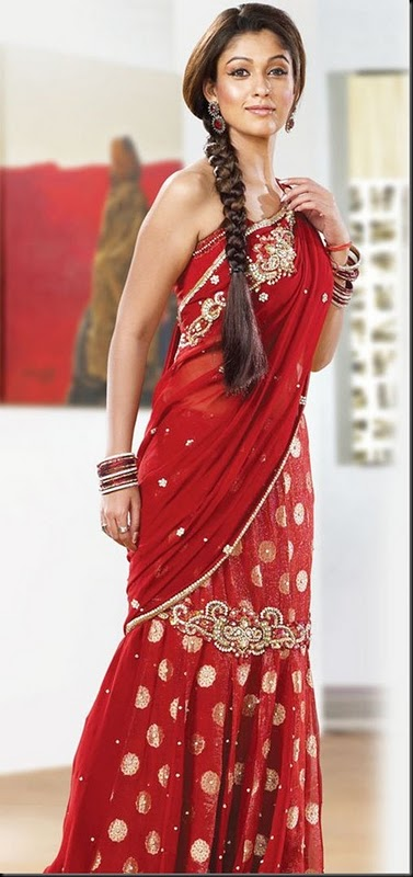 Hairstyles For Long Hair On Saree : South Indian Actress Nayanthara Hairstyle PicturesTop Hairstyle