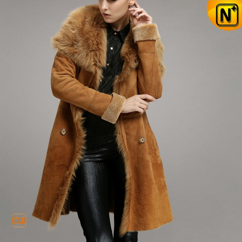 shearling lined coat