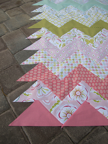 how to make a chevron quilt