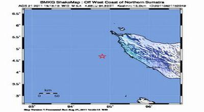 Berita terbaru Gempa Aceh 11 Januari 2012