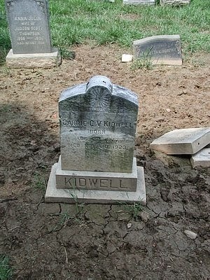 Carrie Virginia Neitzey Mills Kidwell Headstone - My Family History Journey - Debbie Lowrance