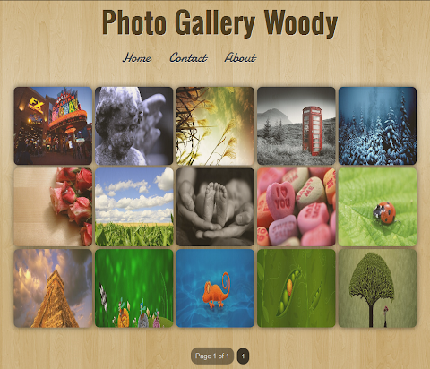 Photo Gallery Woody Blogger Theme