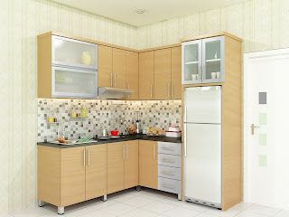 kitchen set, kitchen set murah, finishing hpl, kitchen model L, kitchen set modern