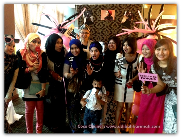 Coco Chanel private party hanis haizi with group adibah karimah