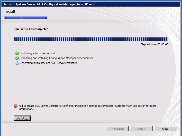 Henks Blog Fail To Create Sql Server Certificate During Installation