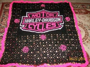 Free Harley Davidson Crochet Afghan Pattern : Crochet Parfait: All of my Charted Patterns