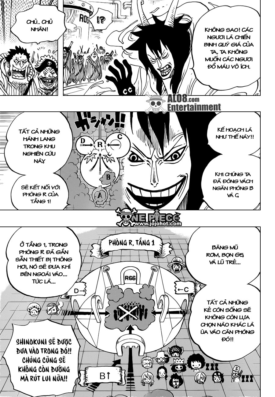 """One Piece Chapter 684: """"Dừng lại, Vegapunk!"""" 013"""