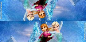 Plantilla para etiqueta de bolsa de dulces con el tema de Frozen una aventura congelada