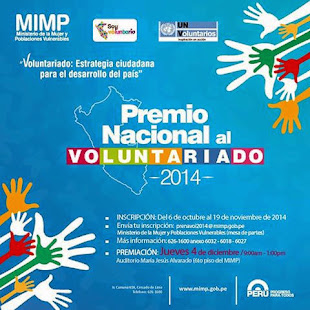 PREMIO NACIONAL AL VOLUNTARIADO 2014
