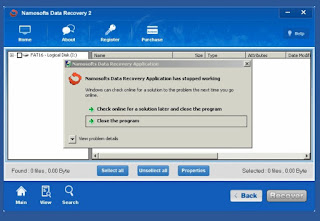 Namosoft Data Recovery 2 Crash
