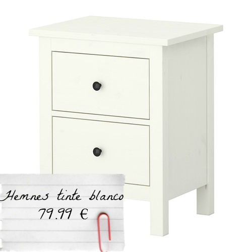 Camdelito new home mesillas hemnes for Mesillas ikea precios