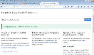 cara mengetahui template blog responsive
