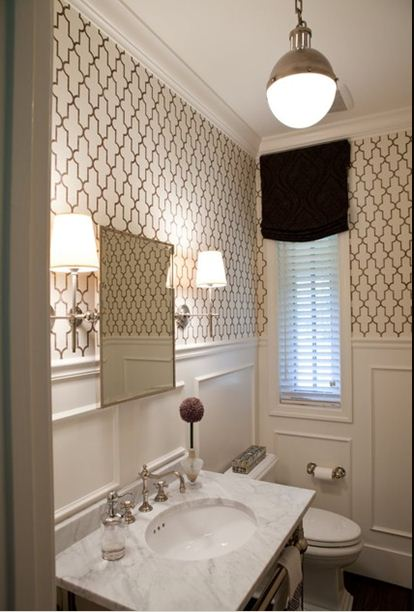 Sor Very Parisian I Absolutely Love Everything About This Powder Room