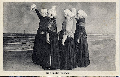 Traditional Dutch dress postcard